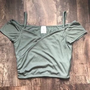 Forever 21 Green Crop Top